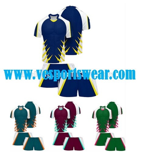 New design dry fit sublimation rugby jerseys