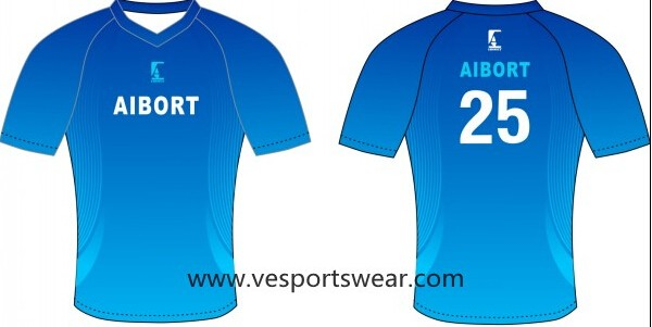 blue stripe sublimation soccer uniform
