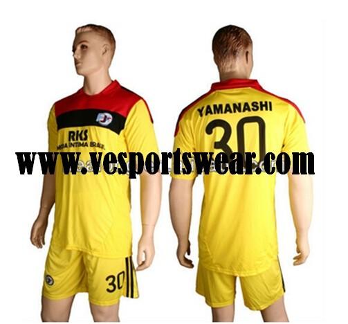 100% polyester custom sublimation soccer uniform