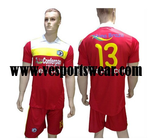 2014 New sublimation soccer jersey