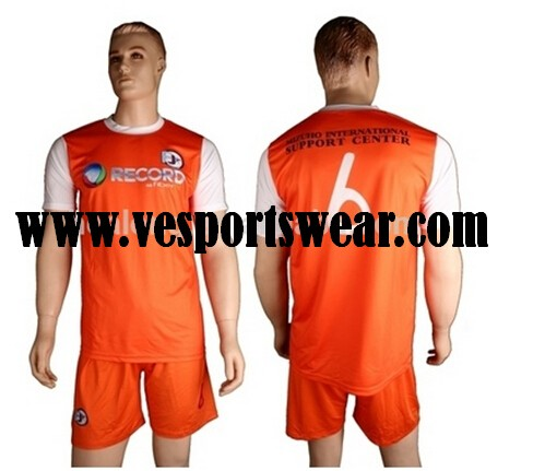 Wholesale team soccer sweat suit with sublimation