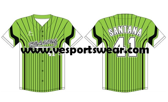 Digital printed youth softball jersey