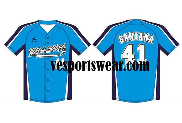 professional produce mesh fabric softball jersey