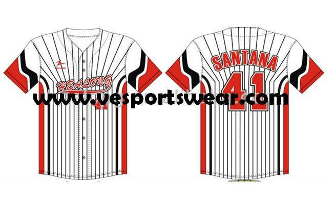 professional sublimated custom softball jersey