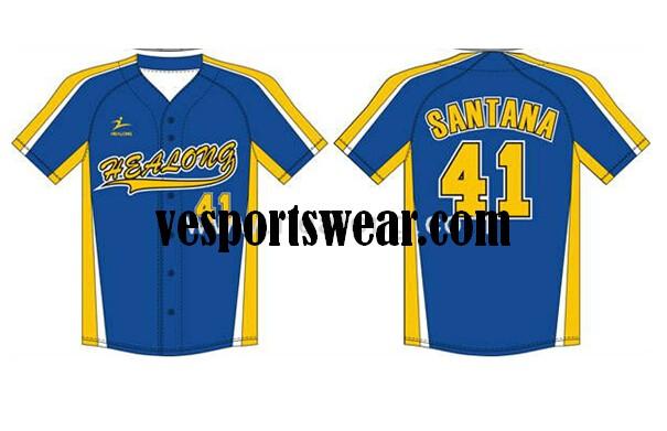 promotion polyester sublimation softball jerseys