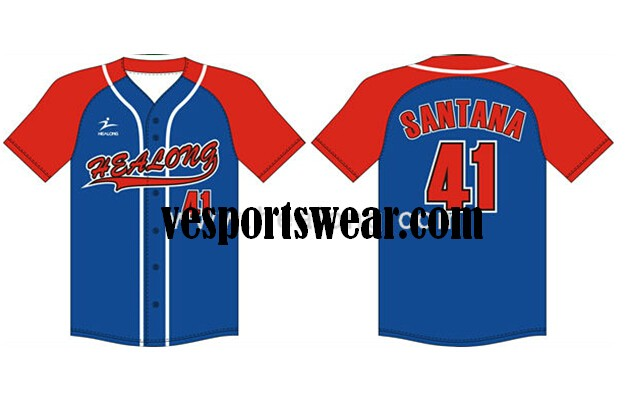 short sleeve round collar softball jerseys