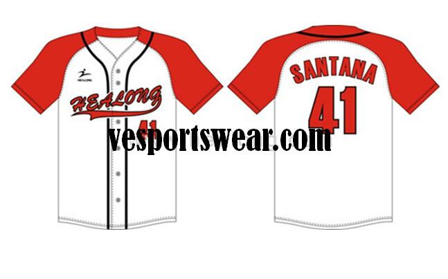 stylish polyester softball jersey