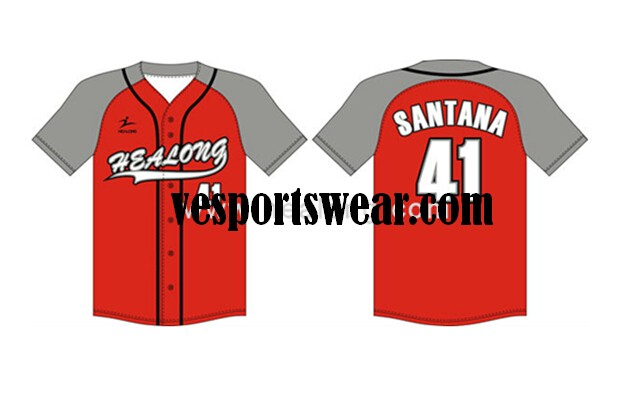 sublimated 100%polyester softball jerseys