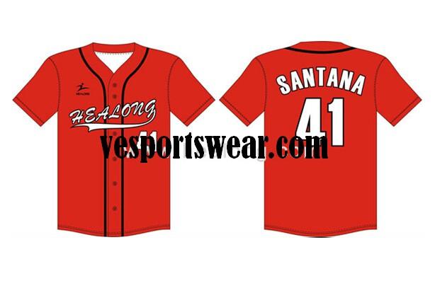 sublimated wholesale blank softball jersey