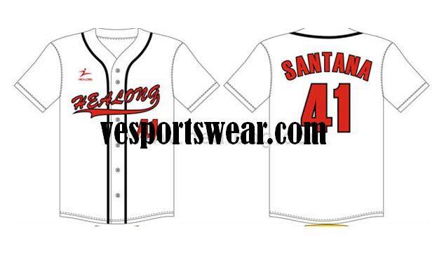 sublimation 100% polyester softball jerseys