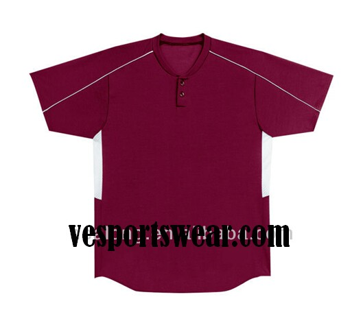 sublimation custom v-collar softball uniform