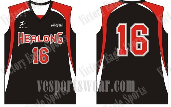 sublimated volleyball uniforms/jerseys