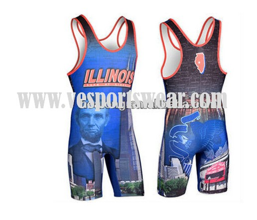 Custom plus size wrestling singlets