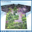 Custom sublimation mens fitness tee shirt