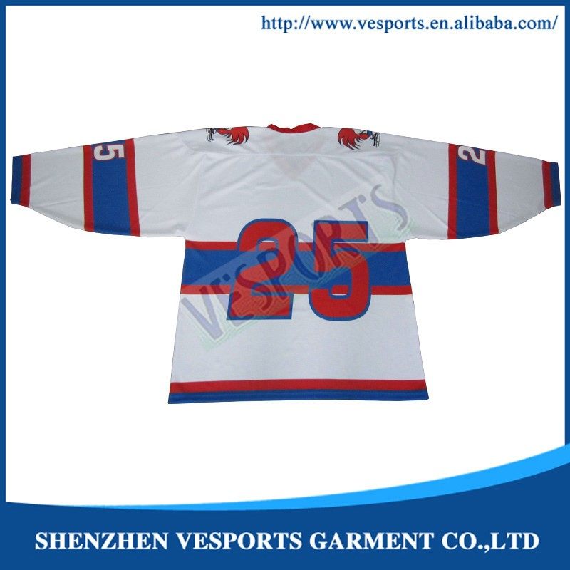 Mens custom full sublimation ice hockey jersey
