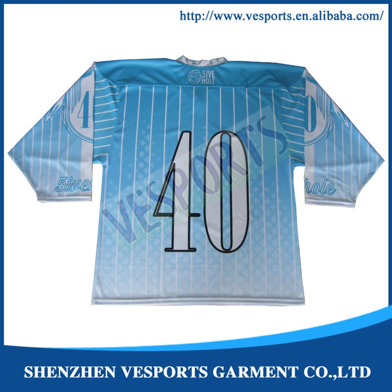 digitally printing ice hockey team jersey